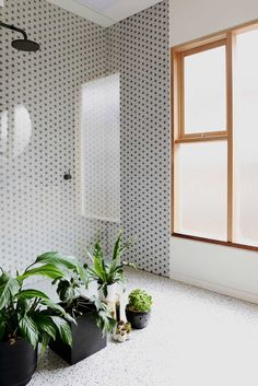 Plants in the bathroom! Design by Hearth, spotted via @missmossblog