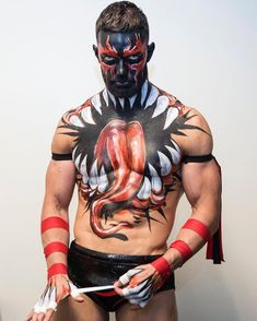 Finn Balor 1 by on DeviantArt Ecw Wrestling, Wrestling Stars, Wrestling Superstars, Finn Balor Paint, Finn Balor Demon King, Wwe Total Divas, Balor Club, Wrestlemania 35, Catch