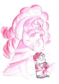 """gracekraft:""""And I need you to know that every moment you love being yourself, that's me, loving you and loving being you.""""This is an image I've had in my mind ever since """"Lion 3: Straight to Video"""" aired. When I first heard that line the scene of the first time Steven's gem lit up in """"Gem Glow."""" It's touching to think that even back then those feelings of being accepted by the Crystal Gems and enjoying being his silly, sweet, cookie cat-loving self activated Rose's gem and connected Steven…"""