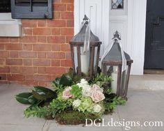 Peachtree Golf Club Atlanta Wedding reception entrance lantern garden moss photo