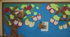 1st grade apple book bulletin board