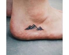 mountain tattoo on foot - Google Search