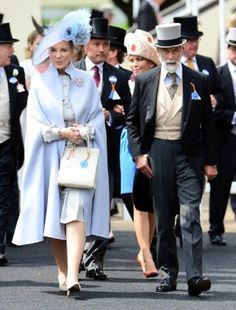 Princess Michael of Kent and Prince Michael of Kent attend day four of Royal Ascot 2013