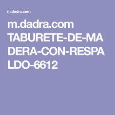 m.dadra.com TABURETE-DE-MADERA-CON-RESPALDO-6612