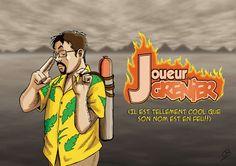 Fanart: Le 'Joueur du Grenier' by Kumanagai on DeviantArt Bob Lennon, Slg, Deviantart, Youtubers, Fanart, Princess Zelda, Link, Fictional Characters, Video Games