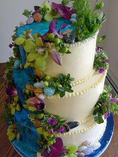 Tropical Waterfall Cake by Maxine's Catering, via Flickr (Ginny's Note: I was looking for tropical paradise pictures, but there was cake)