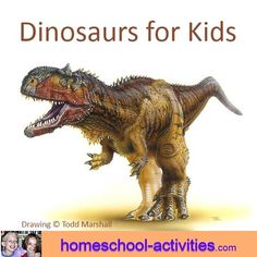 Dinosaurs for kids is full of fun activities to bring the past to life. Build dinosaur robots from trash, make a pterosaur fly and marble your own undiscovered egg. You'll find everything you need to make a giant lapbook, along with free story. Dinosaur Activities, Art Activities For Kids, Fun Crafts For Kids, Kindergarten Activities, Dinosaur Crafts, English Creative Writing, Camping In North Carolina, Camping Jokes, Baby Dinosaurs