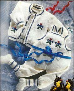 Bébé Garçon Tricot Espagnol Style Costume Set Rock a Bye Baby Blue 0-3 M 3-6 M 6-12 M
