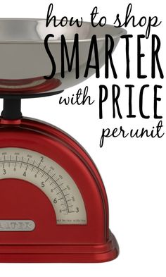 If you want to save money, one of the most important things you need to do when shopping at the supermarket is to to look at the price per unit.