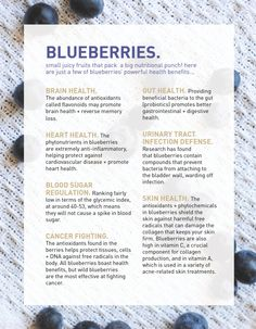 The amazing health benefits of blueberries!