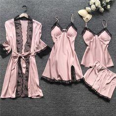 Satin Sleepwear, Satin Pyjama Set, Satin Pajamas, Sleepwear Sets, Sleepwear Women, Nightwear, Women's Pajamas, Silk Pajama Sets, Pyjamas Silk