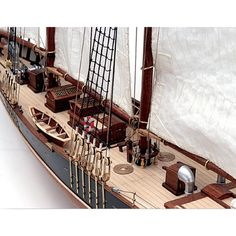 AL20500A - #Bluenose II   Designed by William Roué and built by Smith and Rhuland, Bluenose was launched at Lunenburg, Nova Scotia on March 26, 1921, as both a working cod-fishing schooner and a racing ship  http://www.castyouranchorhobby.com/item--Bluenose%20II%20--20500A