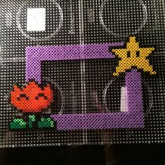 Inspired Mario photo frame hama beads by clenses