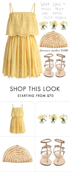 """""""Dresses under $100"""" by jan31 ❤ liked on Polyvore featuring Chicwish, NDI, Kate Spade, Valentino, Summer, summerdresses and under100"""