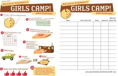 Girls Camp Fundraiser Idea