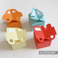 Adorable little gift boxes for children Let's go boxes A Little Hut