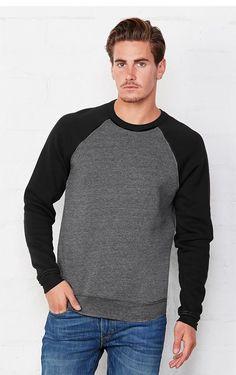 Bella+Canvas Unisex Mock Neck Sweat T-Shirt Sweater Shirt, Crew Neck Sweatshirt, Men Sweater, T Shirt, Jersey Shorts, Bella Canvas, Hooded Sweatshirts, Unisex, Long Sleeve