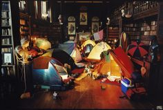 camping in the library