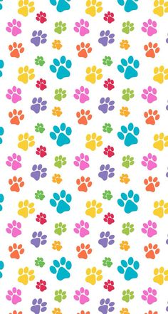 Dog Print Wallpaper cream timeless treasures fabric with funny paw prints | timeless
