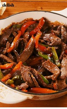 easyrecipes vegetables easydinner delishcom veggies takeout chinese delish recipe pepper dinner steak night beats beef Pepper Steak Pepper Steak beats takeout any night of the week Get the recipe at You can find Beef steak recipes and more on our website Authentic Chinese Recipes, Chinese Chicken Recipes, Easy Chinese Recipes, Asian Recipes, Mexican Food Recipes, Chinese Meals, Recipe Chicken, Chinese Food Dishes, Rice Recipes