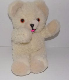 """1985 10"""" LEVER BROS Russ Berrie Cream Colored SNUGGLE Softener PLUSH Bear SS 
