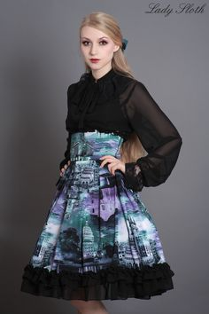 [15% sale] london postcards hw skirt
