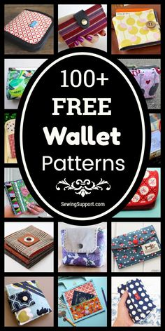 Free Wallet Patterns Over 100 free fabric wallet patterns to sew. Many simple and easy designs including clutch, zipper, keychain, accordion, and card wallets. Find the perfect wallet pattern for you! Wallet Sewing Pattern, Sewing Patterns Free, Free Sewing, Free Pattern, Diy Wallet Pattern Free, Sewing Diy, Pattern Fabric, Purse Patterns, Sewing Hacks