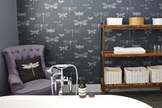 Shenton Park Home� Dragonfly Wallpaper, Australian Homes, Park Homes, Interiors, Bathroom, Heart, House, Inspiration, Furniture
