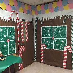 Gingerbread house bulletin board idea!