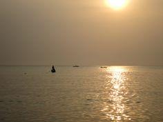 Ondergaande zon bij Santa Marta.