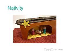 kleenex box and peg doll nativity