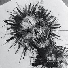 dark art us for the hottest new styles in Got - art Creepy Sketches, Demon Drawings, Creepy Drawings, Dark Art Drawings, Cool Drawings, Art Sketches, Body Sketches, Satanic Art, Satanic Tattoos