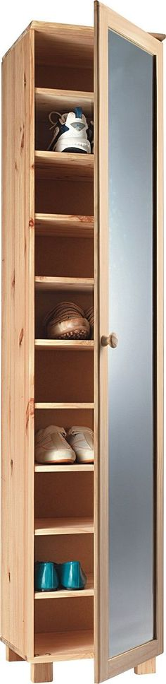 Tall Pine Shoe Cabinet with Mirror Door | Projects to Try ...
