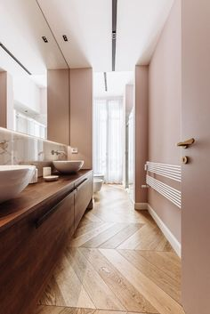 Top quality Italian wooden flooring will add special warmth to your bathroom...don't forget the living room, bedrooms and the hall! Interior Lighting, Lighting Ideas, Accent Lighting, Entrance Hall, Wooden Flooring, Downlights, Minimalism, Contemporary, Living Room