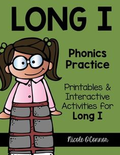 A complete pack of Long I activities including both paper/pencil and interactive games! I designed these for my first graders but they could be used with more advanced Kindergartners as well as second or third grade students. Word families include: ime, ite, ike, ice, ile, ive, ight, y, and more!