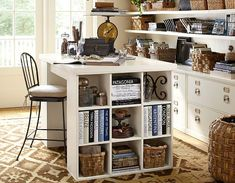 Craft Room Ideas Bedford Collection. Expedit Crafting Table Sewing Craft  Room Idea Decor Craft Room