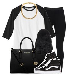 """""""."""" by trillest-queen ❤ liked on Polyvore featuring Peace of Cloth, MICHAEL Michael Kors and Vans"""