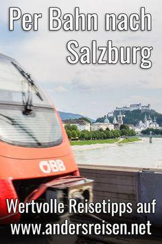 Du möchtest per Bahn nach Salzburg in Österreich reisen? Wertvolle Reisetipps z.B. zu Zugtickets und Fahrzeiten, aber auch für Urlaub ohne Auto mit öffentlichen Verkehrsmitteln in der Stadt Salzburg liest Du in diesem Ratgeber Beitrag. #zugreise #salzburg #UrlaubOhneAuto #VisitSalzburg #bahnreise Salzburg, Inspiration, Night Train, City Breaks Europe, Landscape Pictures, Biblical Inspiration, Inspirational, Inhalation