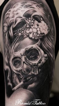 day of the dead tattoos 42