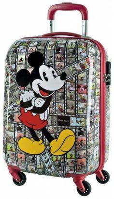 Disney Mickey Mouse Vintage Fumetto Topolino Trolley Valige Rigide Bagaglio  a Mano 0e4824702bc98