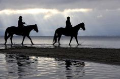 I've always wanted to ride horses on the beach in the sunrise or sunset!