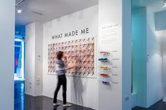 WHAT MADE ME Interactive Public Installation by Dorota Grabkowska, via Behance So cool...ask questions and simple visualization of answers