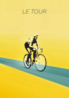 tour de france cycling bicycle vintage bike sports yellow maillot jaune Street art