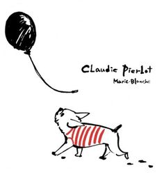'Claudie Pierbot', French Bulldog Print, illustration by Marie Blanche. .......I want this print!!!!