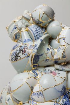 Since 2001, Korean artist Yeesookyung has taken shards of discarded porcelain and reconfigured them into impressive abstract sculptures. Called Transl