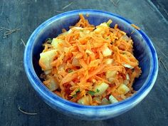 curried carrot and pear salad