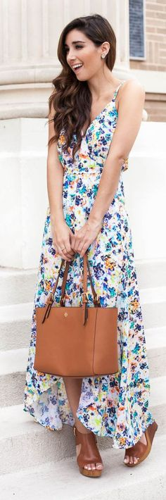 Floral Maxi Dress Girly Style by The Darling Detail