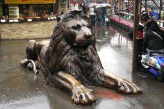 Lion Sculpture at Camden Market