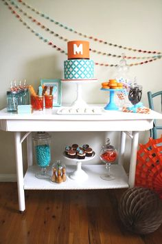 Maddox bowling party dessert table- by Mon Tresor