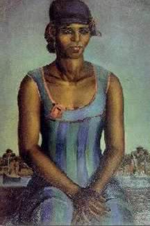 The Woman in the Blue Dress - Mahmoud Said